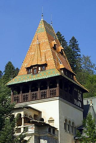 Pelisor Castle, Simiu, Wallachia, Carpathian Mountains, Romania