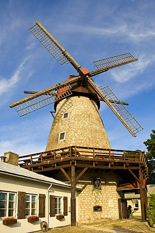 Windmill, Veski Trahter, Kuressaare, Saaremaa, Baltic Sea Island, Estonia, Baltic States, Northeast Europe - 832-251550