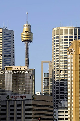 Sydney Tower, 260 meters, Australia's highest building, surrounded by tower blocks, Sydney, Australia