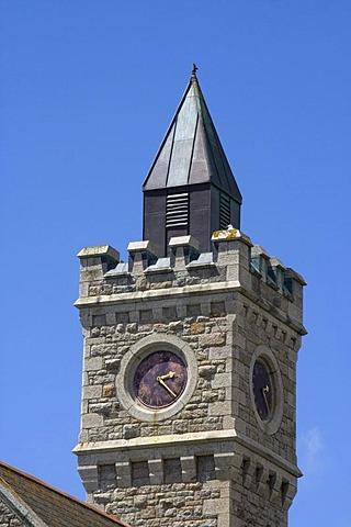 Porthleven Clocktower, Porthleven, Cornwall, Great Britain, Europe