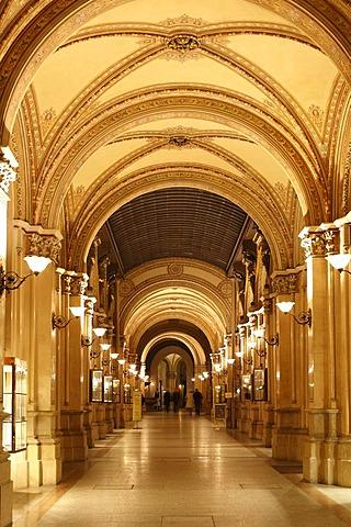 Freyung Passage, shopping arcade in Palais Ferstel, Palais Ferstel, Vienna, Austria, Europe