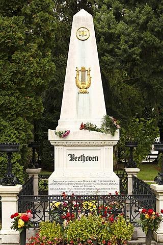 Ludwig van Beethoven sepulchral stone, Wiener Zentralfriedhof, cemetery, Vienna, Austria, Europe
