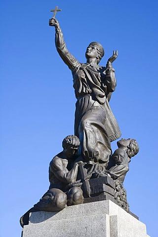 Latgale liberation monument United for Latvia, Rezekne, Latvia, Baltic region
