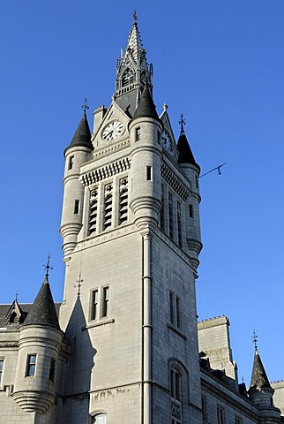 Town House Clock Tower, Aberdeen, Scotland, Great Britain, Europe