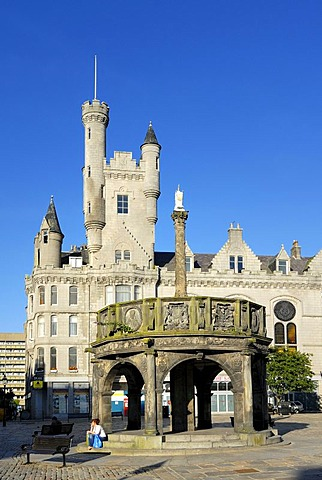 Aberdeen Castlegate, Scotland, Great Britain, Europe