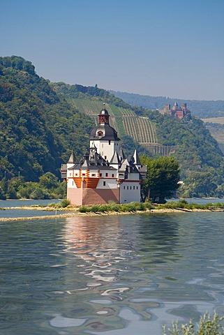 Burg Pfalzgrafenstein, a toll castle at Kaub, Rhinegau, Rhineland-Palatinate, Germany, Europe