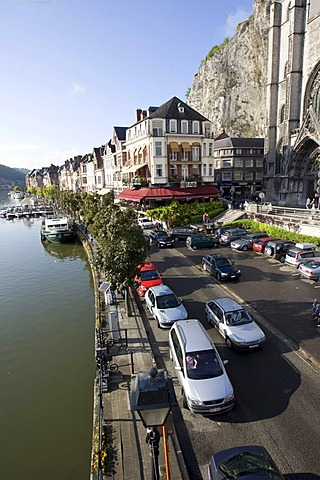 Collegiale Notre-Dame de Dinant, Collegiate Church of Notre-Dame, Dinant on the Meuse River, Namur Province, Wallonia, Belgium, Europe