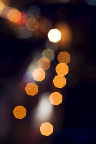 City lights of Neubrandenburg, Mecklenburg-Western Pomerania, Germany, Europe