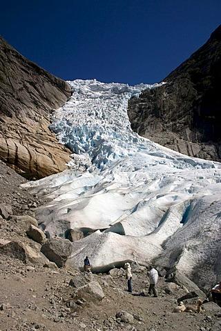 Glacier Briksdalsbreen, Sogn og Fjordane, Norway, Scandinavia, Europe
