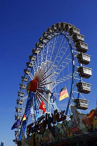 Ferris wheel, Wies'n, Oktoberfest, Munich, Bavaria, Germany, Europe