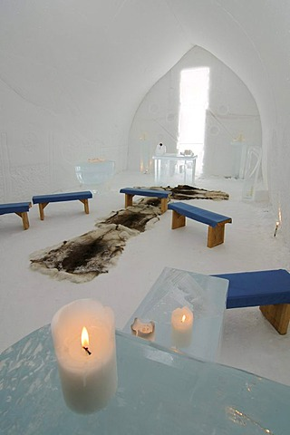 Igloo church, Icehotel Kakslauttanen, Ivalo, Lapland, Finland, Europe