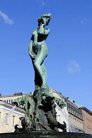 Sculpture of a woman, Havis Amanda fountain, Esplanade, Helsinki, Finland, Europe