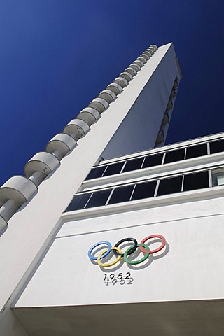 Olympic stadium, detail, Helsinki, Finland, Europe