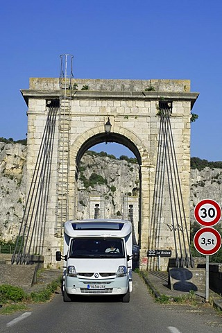 Campervan at Bourg-Saint-Andeol, Rhone, Ardeche, Rhone-Alpes, France, Europe