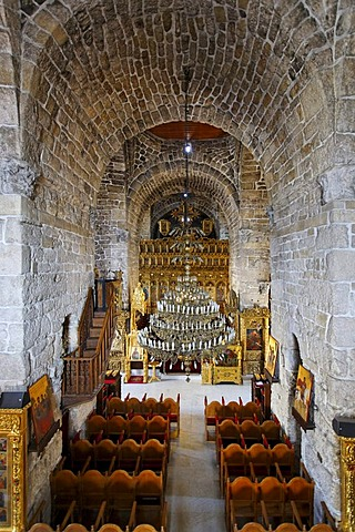 Interior of the Lazarus Church, altar, chairs, Larnaca, Cyprus, Asia