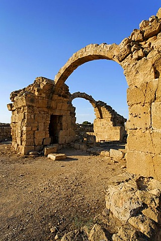 Saranda Kolones fortress, archway, archeology, UNESCO World Heritage Site, Kato, Paphos, Pafos, Cyprus, Europe