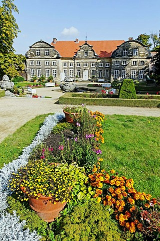 Park and the small Blankenburg Castle, Saxony-Anhalt, Germany, Europe
