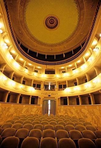 Theatre Teatro dei Vigilanti, Portoferraio, Elba Island, Livorno Province, Tuscany, Italy, Europe