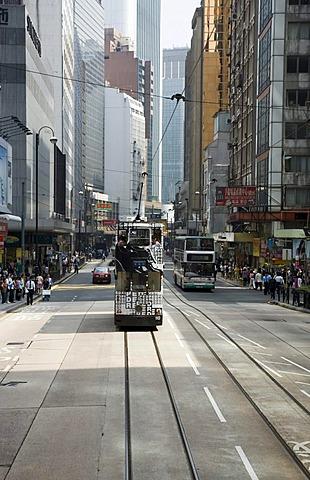 Road, traffic, multistory buildings, central, Hongkong, China, Asia