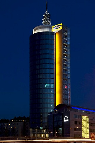 Building of the Yellow company, Munich, Bavaria, Germany, Europe
