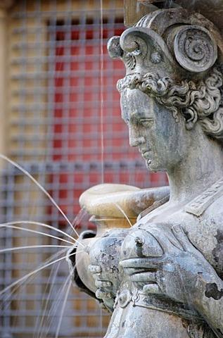 Fontana di Nettuno, Fountain of Neptune, detail, Piazza Nettuno, Bologna, Italy