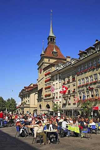 Bears' Plaza in the city centre of Berne, Switzerland, Europe