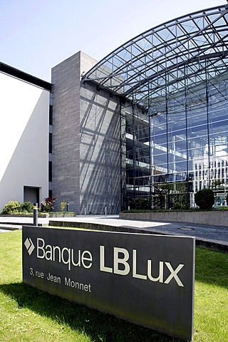 Head office of the Banque LBLux, Luxembourg Federal State Bank, Bavarian Federal State Bank, Saarland Federal State Bank, in Luxembourg, Europe
