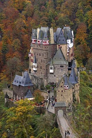 Burg Eltz, Eltz Castle, Muenstermaifeld, Rhineland-Palatinate, Germany, Europe
