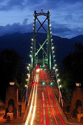 Vancouver Lions Gate Bridge, photographed from Stanley Park, Vancouver, Canada