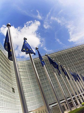 The Berlaymont Building, European Commission, by Lucien de Vestel in Brussels, Belgium, Europe