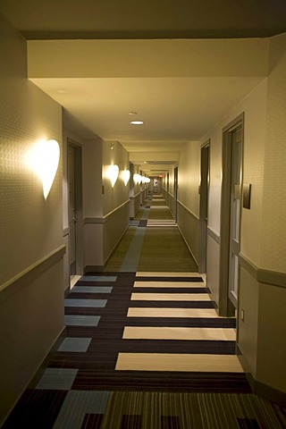 A corridor in the hotel at the Greektown Casino, Detroit, Michigan, USA, Detroit, Michigan, USA