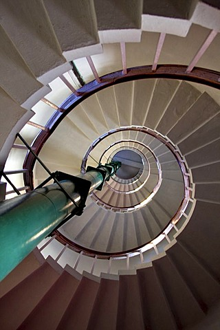 Stairway inside the lighthouse in Kovalam, Kerala, India, South Asia
