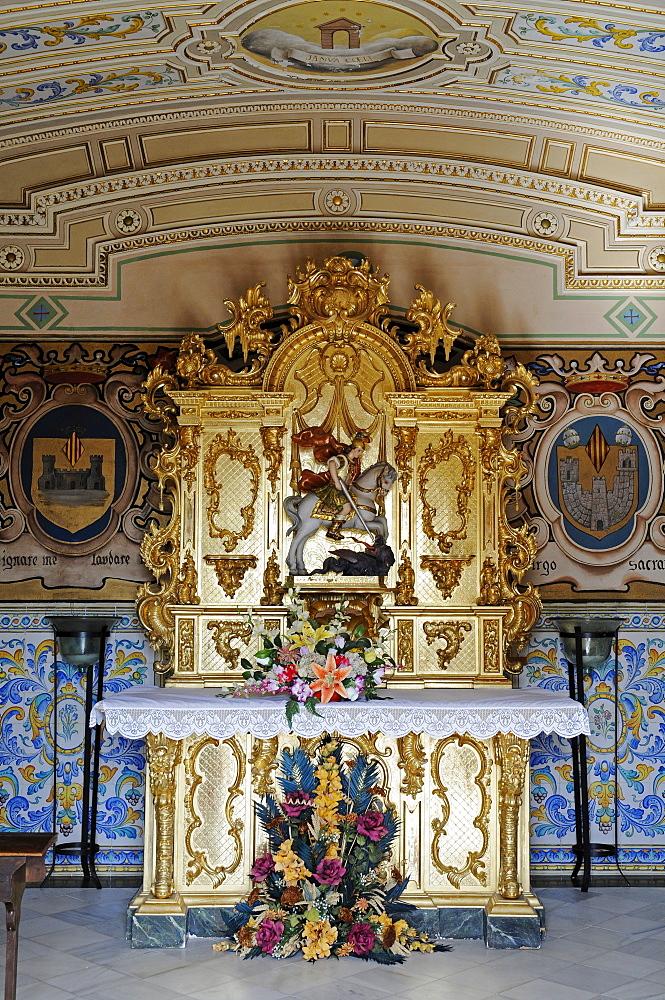 St. Jordi Chapel at the castle in Xativa (Jativa), Valencia, Spain, Europe