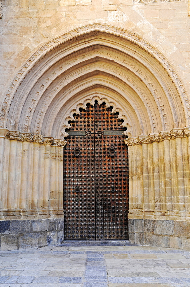 Cathedral door, Orihuela, Alicante, Spain