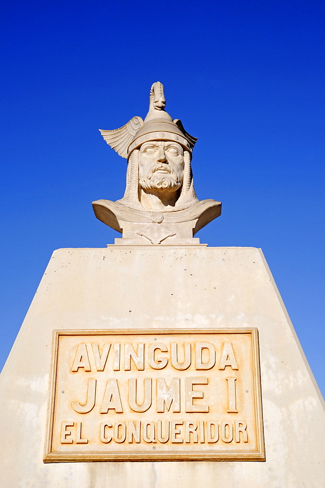 Memorial for Jaume I the Conquerer, Jaime, King of Aragon, Calpe, Alicante, Costa Blanca, Spain