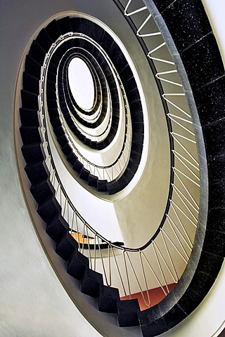 Stairs in the country court, Munich, Bavaria, Germany