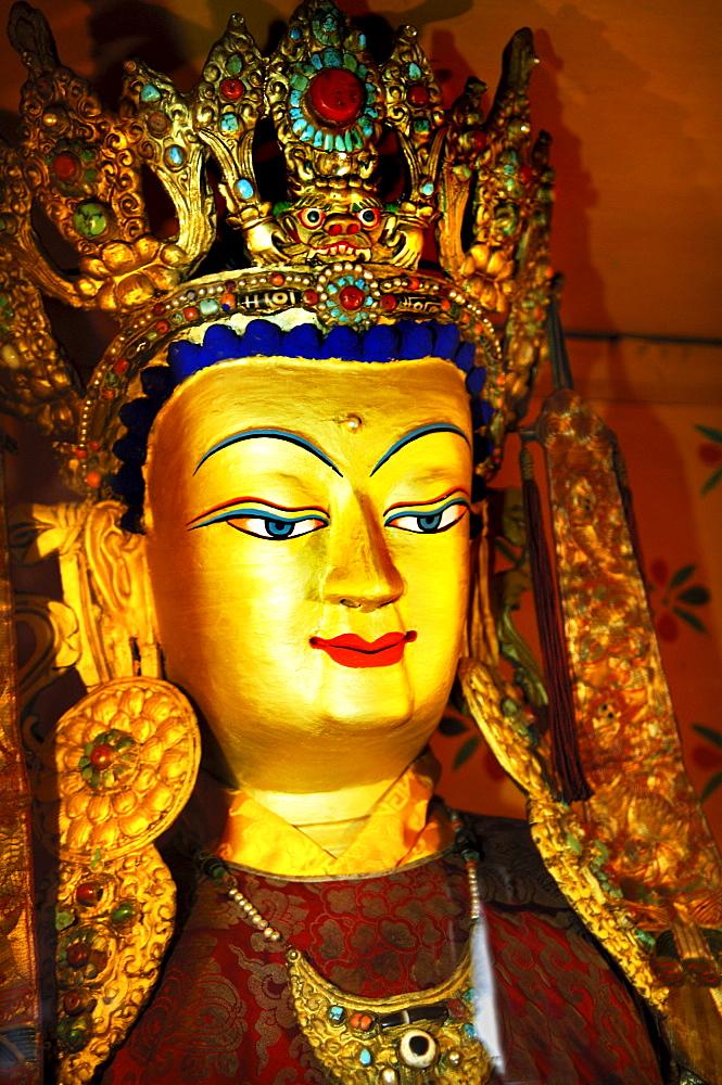 Buddha figure, monastery of Ganden, Tibet
