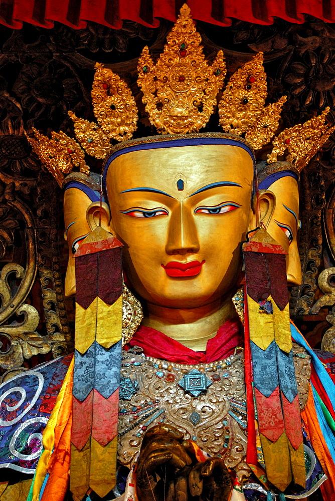 Four-faced Buddha Vairocana, Paelkhor Choede Convent, Gyantse, Tibet