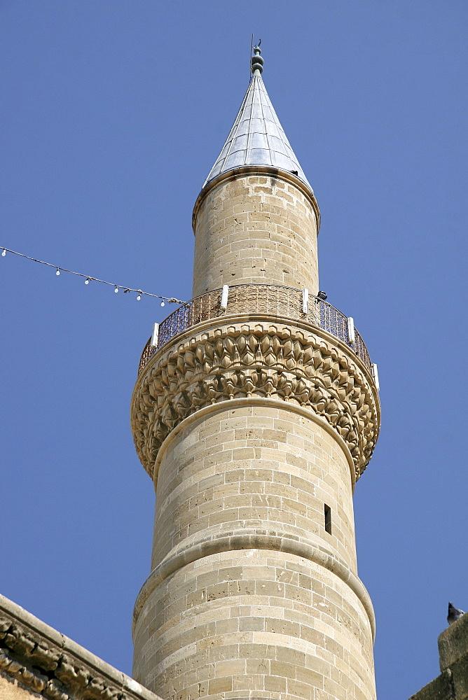 Minaret, Selimiye Mosque, St. Sophia Cathedral, Nicosia, Cyprus