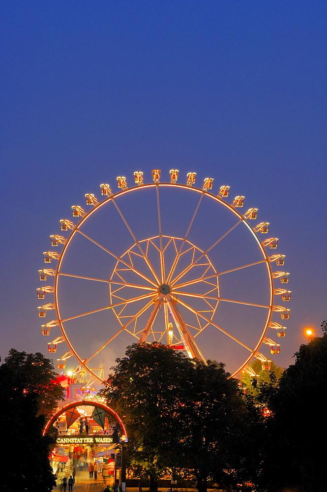 Ferris wheel at a fair in Stuttgart, Baden-Wuerttemberg, Germany, Europe