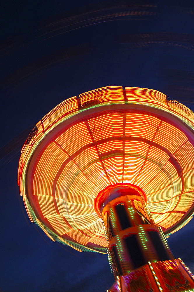 Swing carousel (chair-o-plane) at a fair in Stuttgart, Baden-Wuerttemberg, Germany, Europe