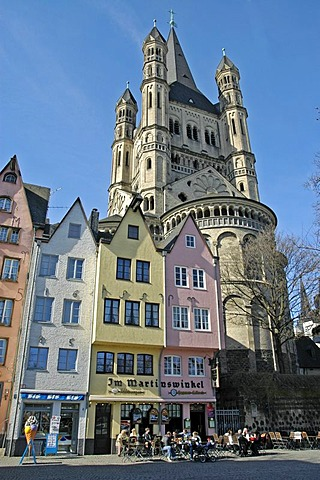 Gross St. Martin, romanic church, Cologne, North Rhine-Westphalia, Germany