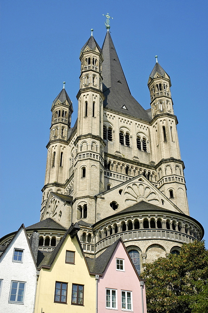Great St. Martin Church, Cologne, North Rhine-Westphalia, Germany
