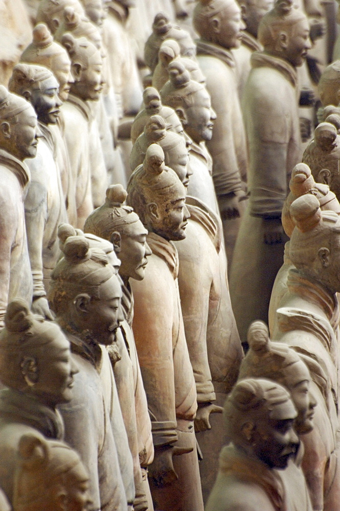 Terracotta warriors, Terracotta Army in the Mausoleum of the First Qin Emperor, near Xi'an, Shaanxi Province, China, East Asia