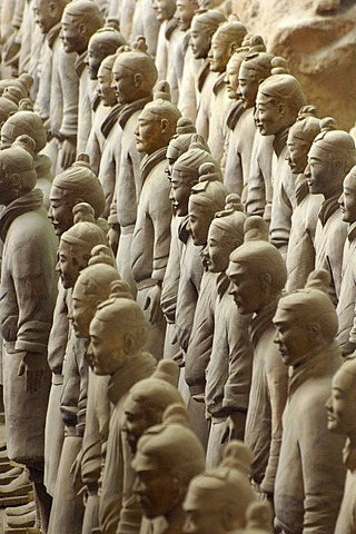 Terracotta Warriors from the grave site of Emperor Qin Shihuangdi near Xi¥an, Shaanxi province, China, Asia