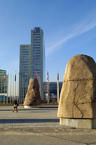 Place in front of the Austria Center behind the Ares Tower Donau City Vienna Austria