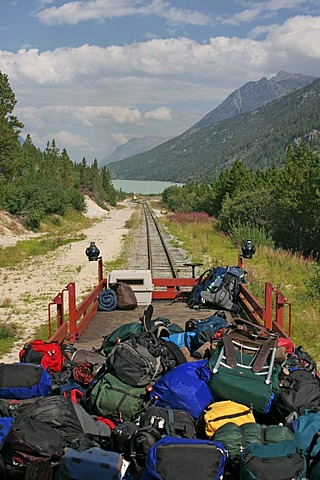 The train from Bennett to Skagway Chilkoot Trail British Columbia Canada