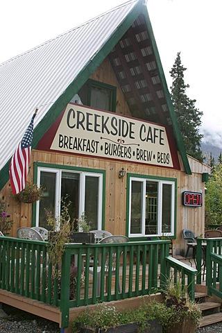 The Creekside Cafe near the Denali Nationalpark Alaska USA