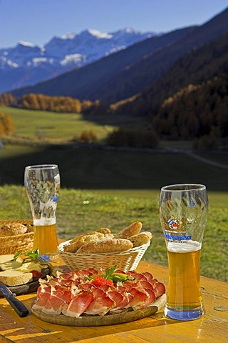 A delicious meal at the Schlininger alp, Upper Vinschgau, South Tyrol, Italy