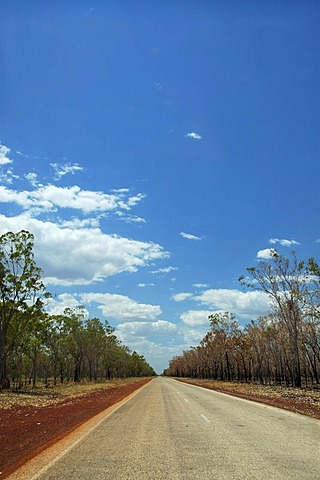 Straight highway in the Australian outback, Northern Territory, Australia